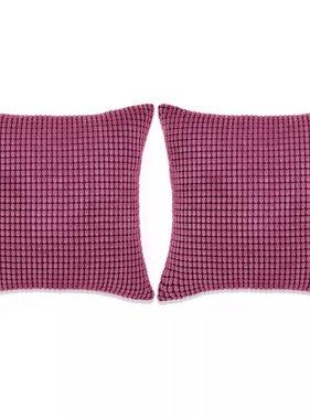 vidaXL Sierkussenset 45x45 cm velours roze 2-delig