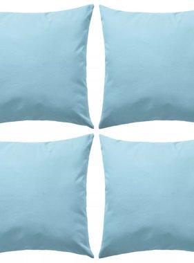 vidaXL Buitenkussens 45x45 cm lichtblauw 4 st