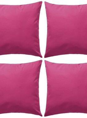 vidaXL Buitenkussens 45x45 cm roze 4 st