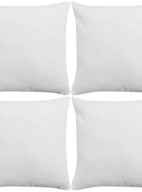 vidaXL Kussenhoezen 4 stuks linnen look wit 40x40 cm