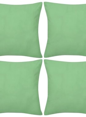 vidaXL Kussenhoezen katoen 50 x 50 cm appeltjesgroen 4 stuks