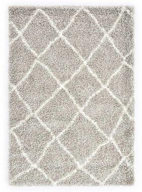 vidaXL Tapijt Berber shaggy hoogpolig 80x150 cm PP zandkleurig beige