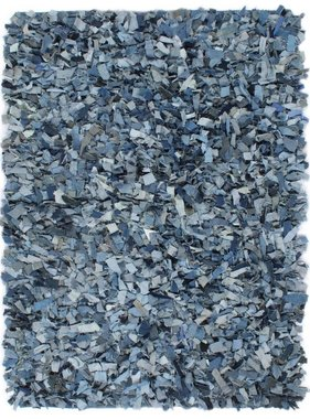 vidaXL Tapijt shaggy hoogpolig 80x160 cm denim blauw