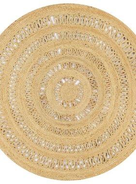 vidaXL Vloerkleed handgemaakt 150 cm gevlochten jute