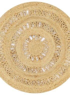 vidaXL Vloerkleed handgemaakt 90 cm gevlochten jute