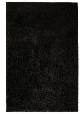 vidaXL Vloerkleed shaggy hoogpolig 160x230 cm zwart