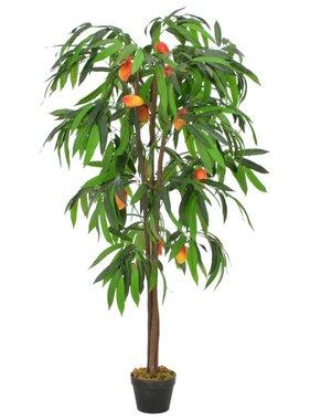 vidaXL Kunstplant met pot mangoboom 150 cm groen
