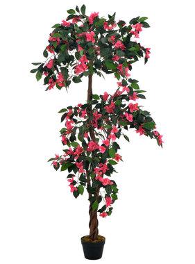 vidaXL Kunstplant met pot rododendron 165 cm roze