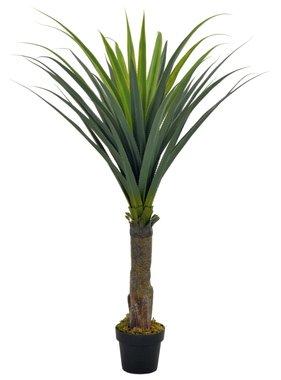 vidaXL Kunstplant met pot yucca boom 145 cm groen