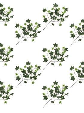 vidaXL Kunstbladeren klimop 10 st 70 cm groen en wit