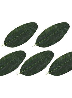 vidaXL Kunstbladeren banaan 5 st 62 cm groen