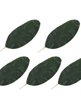 vidaXL Kunstbladeren banaan 5 st 50 cm groen