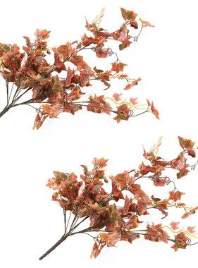vidaXL Kunstbladeren druif 2 st 90 cm rood