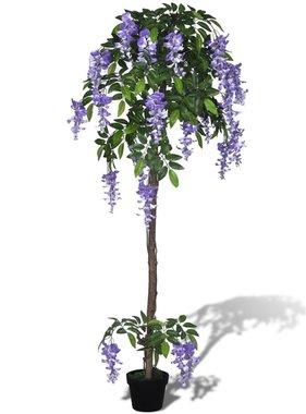 vidaXL Kunstplant blauwe regen met pot 160 cm