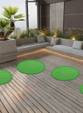 vidaXL Kunstgras met noppen rond 95 cm groen