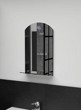 vidaXL Wandspiegel met schap 30x50 cm gehard glas