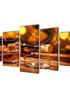 vidaXL Canvasdoeken whiskey en sigaar (100 x 50 cm)