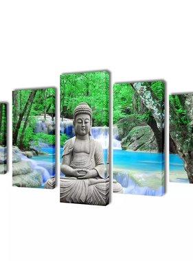 vidaXL Canvasdoeken Boeddha 200 x 100 cm