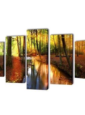 vidaXL Canvasdoeken Bos 200 x 100 cm