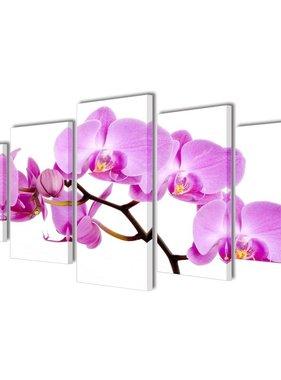 vidaXL Canvasdoeken Orchidee 100 x 50 cm