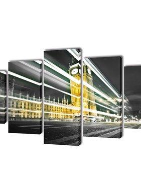 vidaXL Canvasdoeken Londen Big Ben 100 x 50 cm