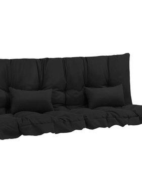 vidaXL 4-delige Kussenset voor schommelstoel stof antraciet