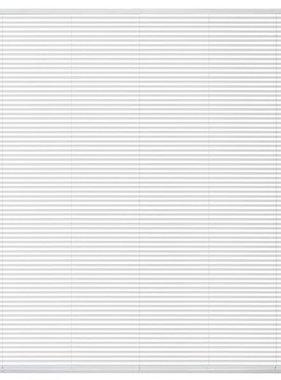 vidaXL Zonwering aluminium 140x160 cm wit