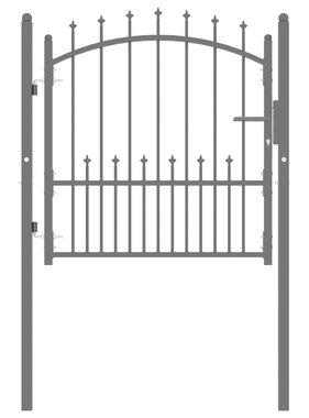vidaXL Poort met speerpunten 100x100 cm staal zwart
