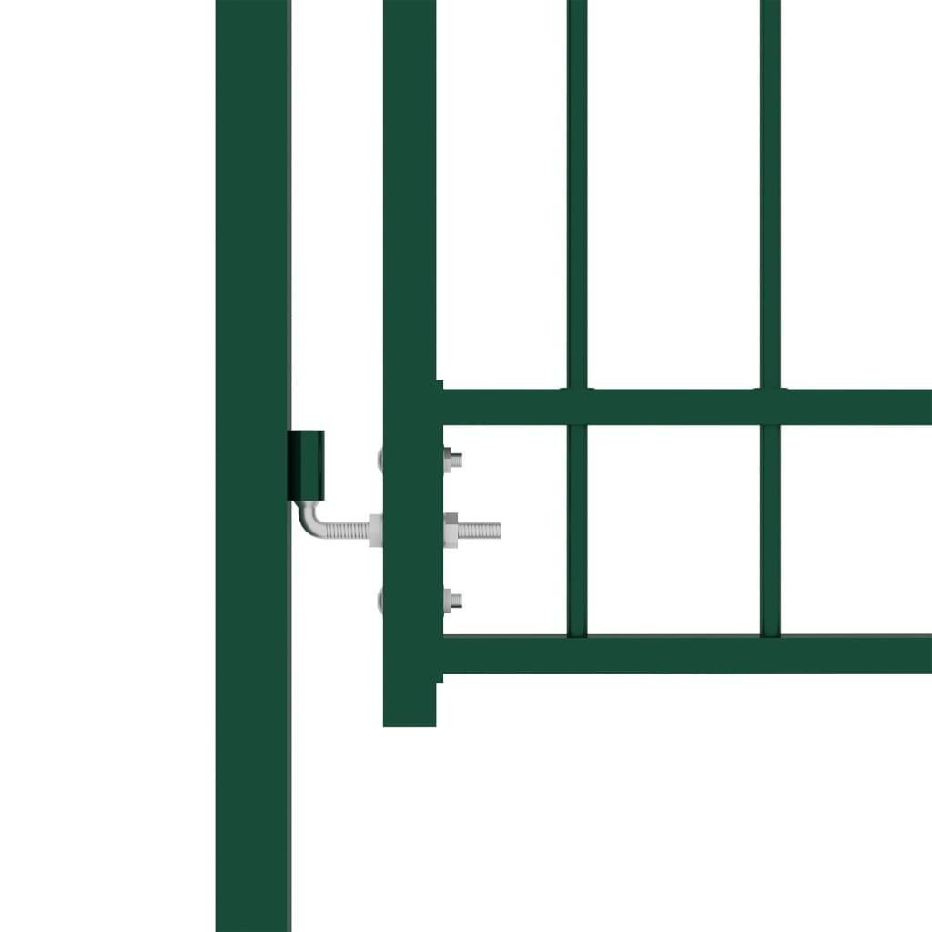 vidaXL Poort met speerpunten 100x125 cm staal groen