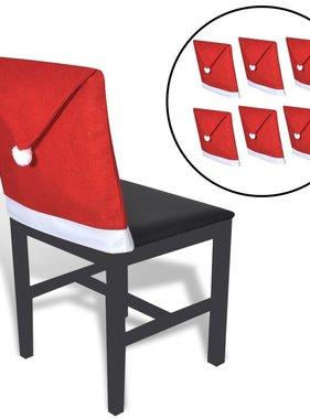 vidaXL Kerstmutshoezen voor stoelleuning 6 st