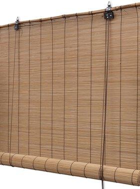 vidaXL Rolgordijn Bamboe 140 x 160 cm bruin