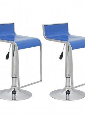 vidaXL Barkruk Lamego blauw (set van 2)