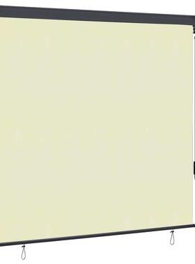 vidaXL Rolgordijn voor buiten 170x250 cm crème