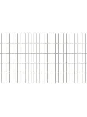 vidaXL Dubbelstaafmatten & palen 2008 x 1030 mm 40 m zilver 20 + 21 st