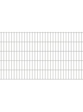 vidaXL Dubbelstaafmatten & palen 2008 x 1030 mm 34 m zilver 17 + 18 st
