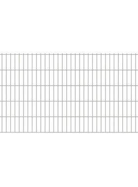 vidaXL Dubbelstaafmatten & palen 2008 x 1030 mm 32 m zilver 16 + 17 st