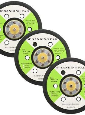 vidaXL Schuurpads met 6 gaten 15 cm 3 st