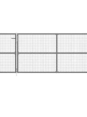 vidaXL Poort 350x125 cm staal antraciet