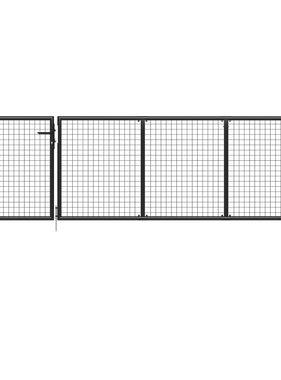 vidaXL Poort 350x75 cm staal antraciet