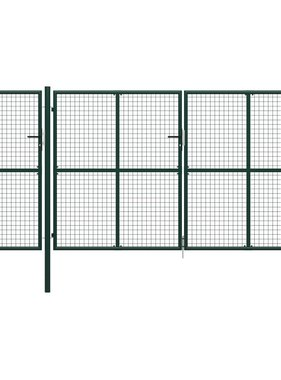 vidaXL Poort 400x150 cm staal groen