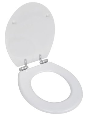 vidaXL Toiletbril soft-close simpel ontwerp MDF wit