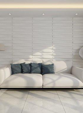 vidaXL 12 x 3D wandpanelen (golvend motief) 0,625 m x 0,8 m - 6 m²
