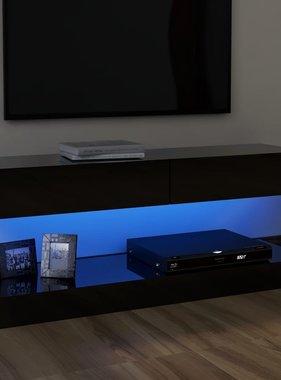 vidaXL Tv-meubel met LED-verlichting 120x35 cm hoogglans zwart