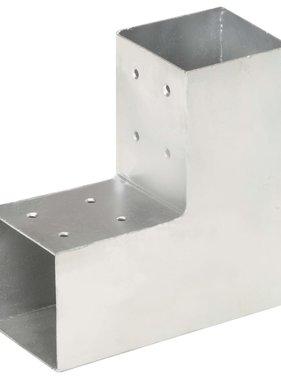 vidaXL Paalverbinding L-vorm 81x81 mm gegalvaniseerd metaal