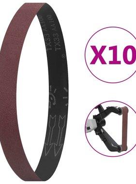 vidaXL Schuurbanden 10 st P180 40x760 mm