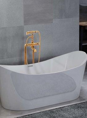 vidaXL Badkuip vrijstaand met kraan 204 L 99,5 cm goudkleurig