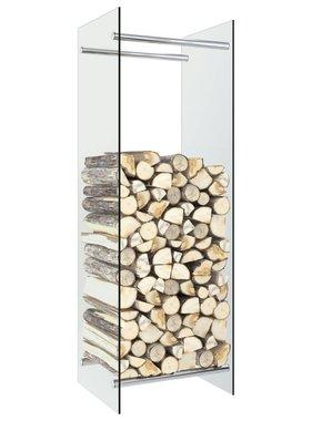 vidaXL Haardhoutrek 40x35x120 cm glas transparant