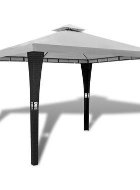vidaXL Tuinpaviljoen met dak 3x3 m crèmewit