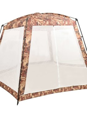 vidaXL Zwembadtent 500x433x250 cm stof camouflage