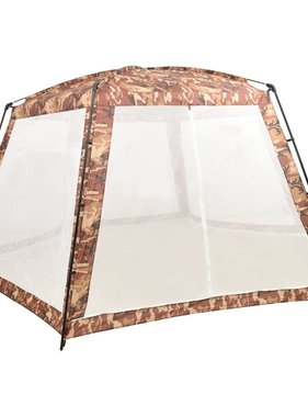 vidaXL Zwembadtent 660x580x250 cm stof camouflage